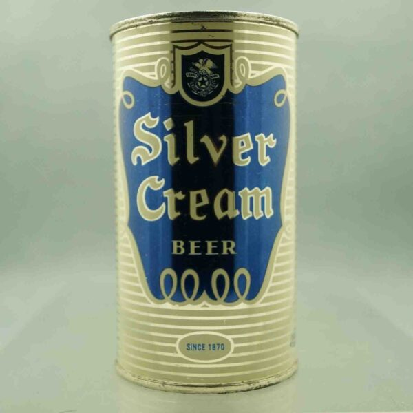 silver cream 134-13 flat top beer can 1
