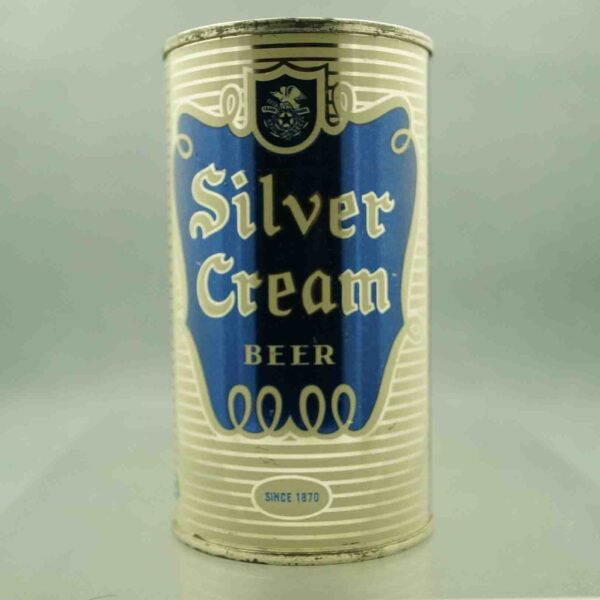 silver cream 134-13 flat top beer can 3