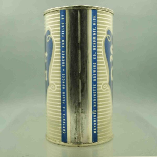 silver cream 134-13 flat top beer can 4