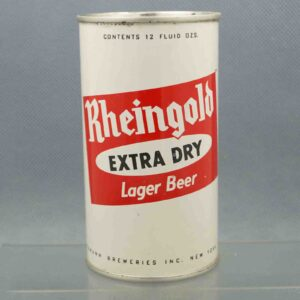 rheingold 124-4 flat top beer can 1