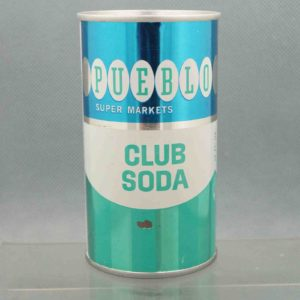 pueblo club soda flat top soda can 1