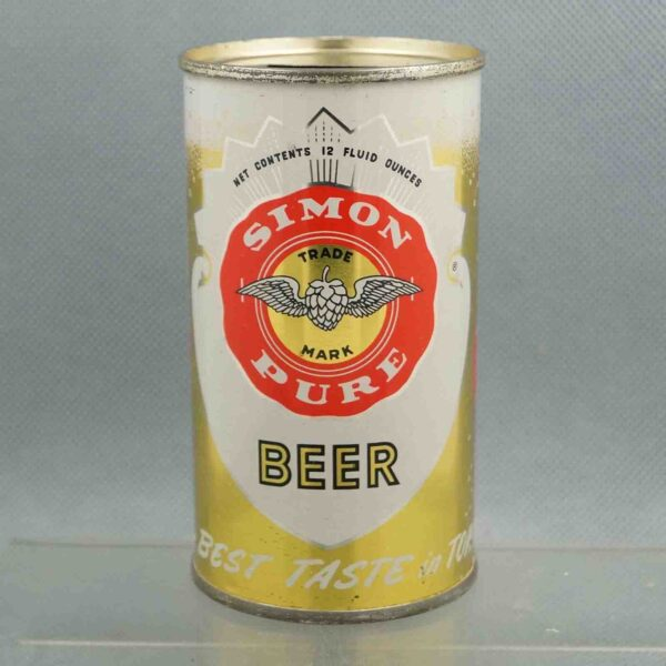 simon pure 134-23 flat top beer can 1