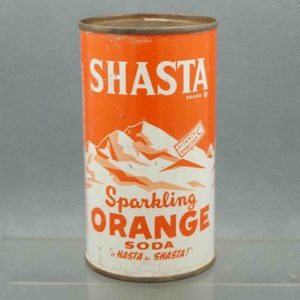 shasta orange s420-26 flat top soda can 1