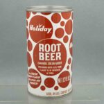 holiday root beer h580-8 pull tab soda can 1