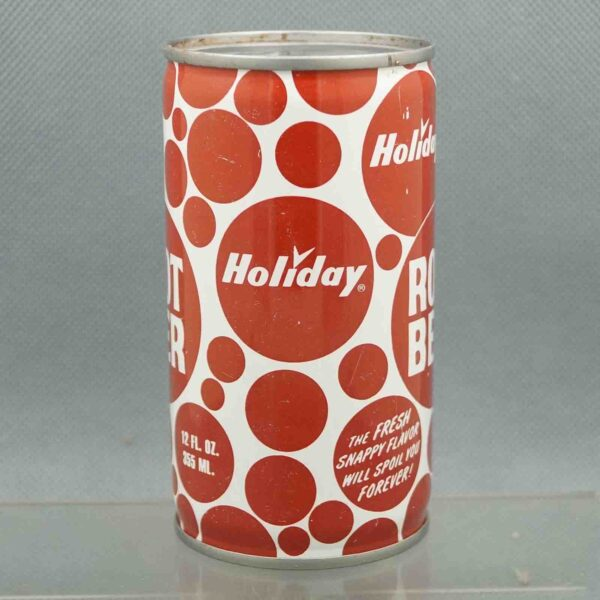 holiday root beer h580-8 pull tab sodacan 2