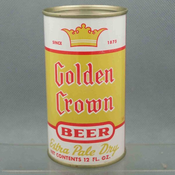 golden crown 72-35 flat top beer can 3