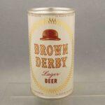 brown derby l42-23 flat top beer can 1