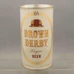 brown derby flat top beer can 1