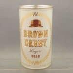 brown derby flat top beer can 3